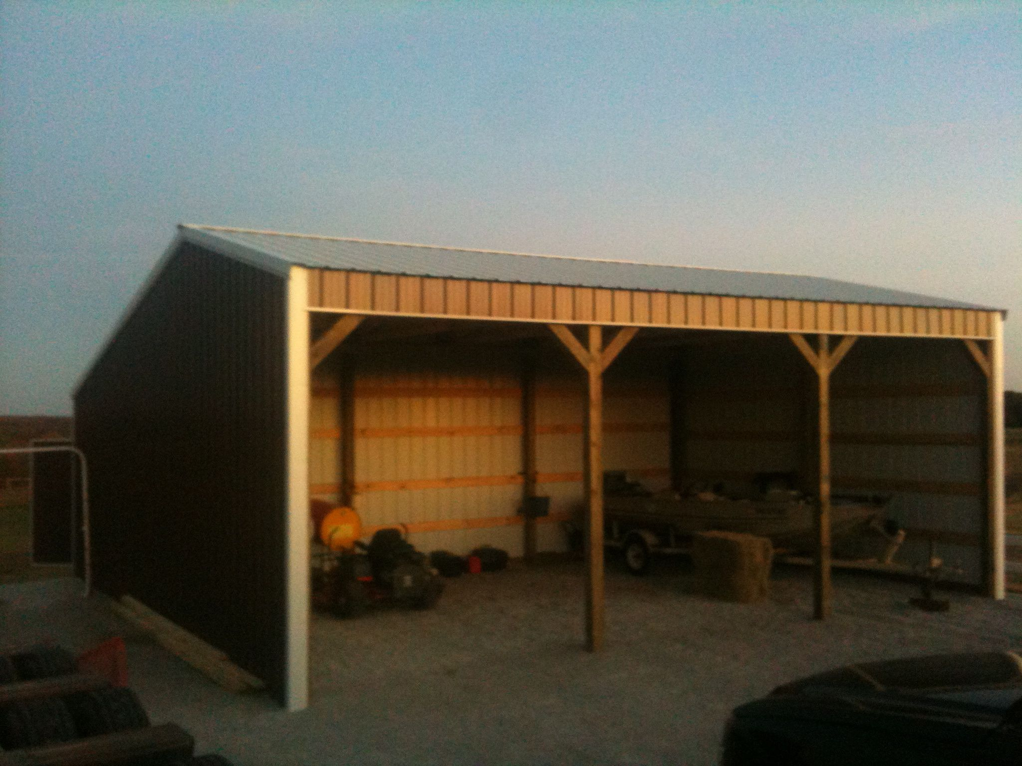 3 Stall Run In Shed Metal Roof For the Animals Pinterest
