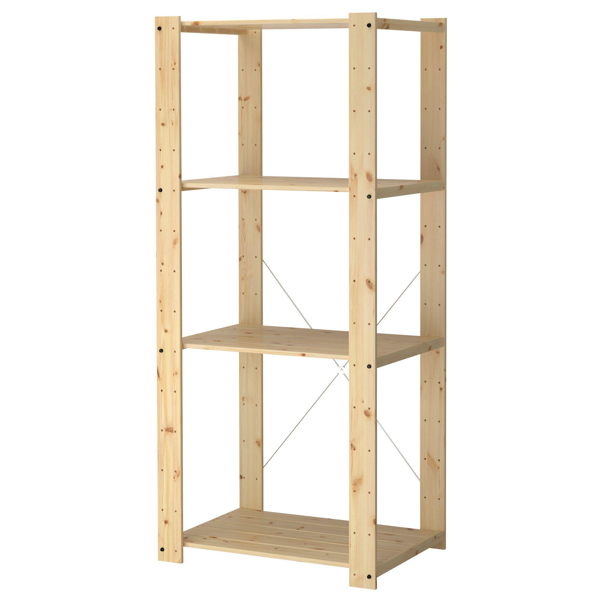 "Pantry Storage Shelving Units Small Metal Shelving Unit: GORM Shelving Unit - 30 3/4x21 5/8x68 1/2 "" - IKEA"