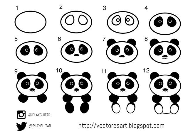 HOW TO DRAW OSO PANDA  How to draw  Pinterest  Panda