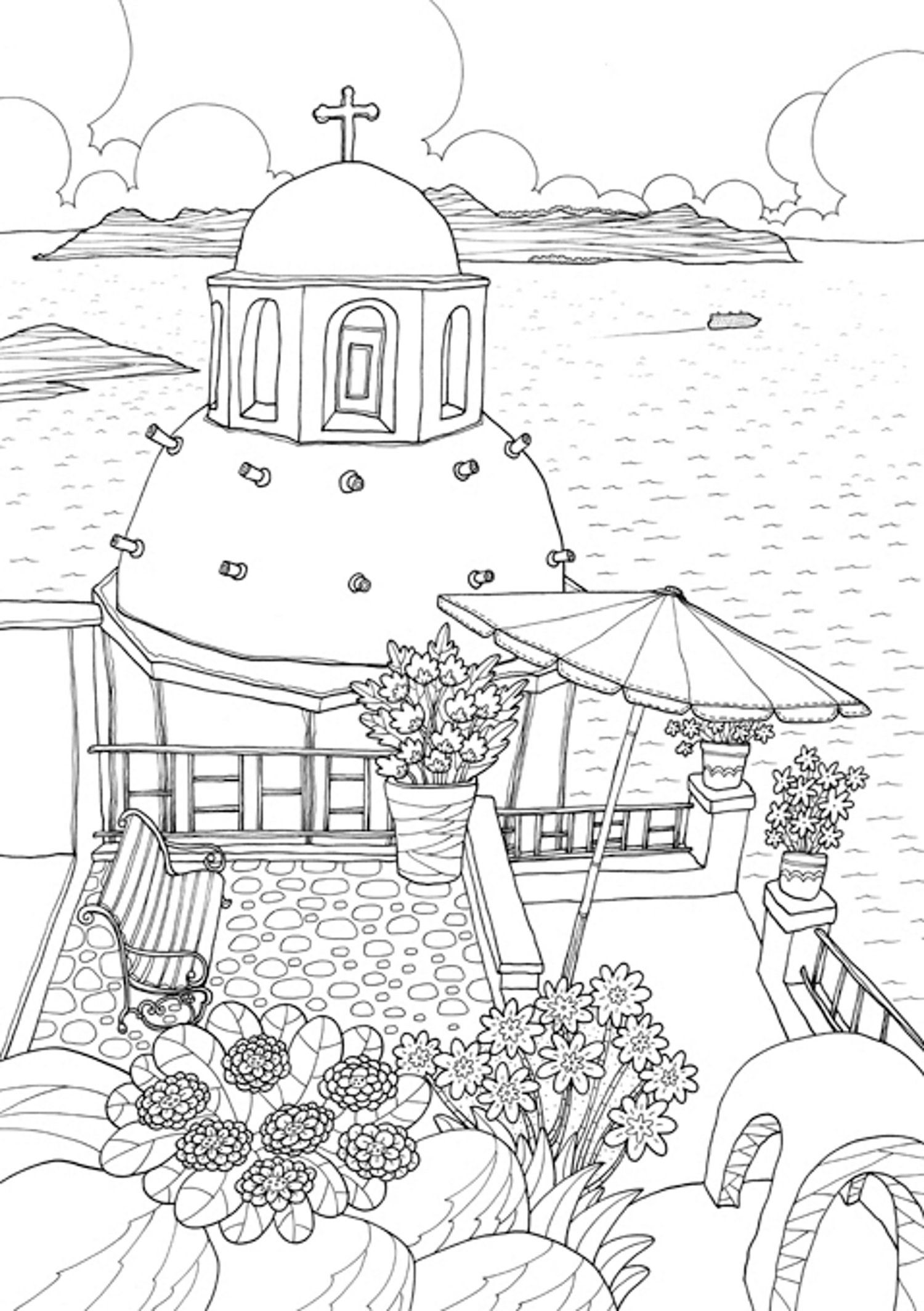 Coloring Europe Magical Greece A Coloring Book Tour Of