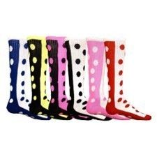 new style 72702 e53fb girls polka dot soccer socks