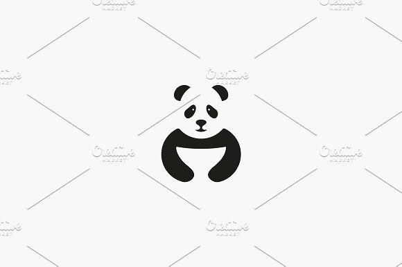 Panda Logo Symbol Design Asian Food Vector Icon Logotype Wok