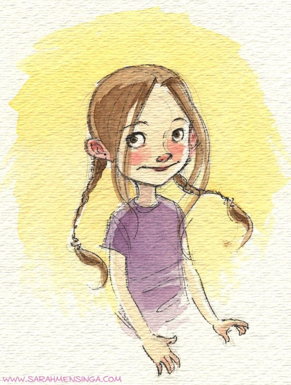Little Watercolor Sketches Children Book Illustration Watercolor