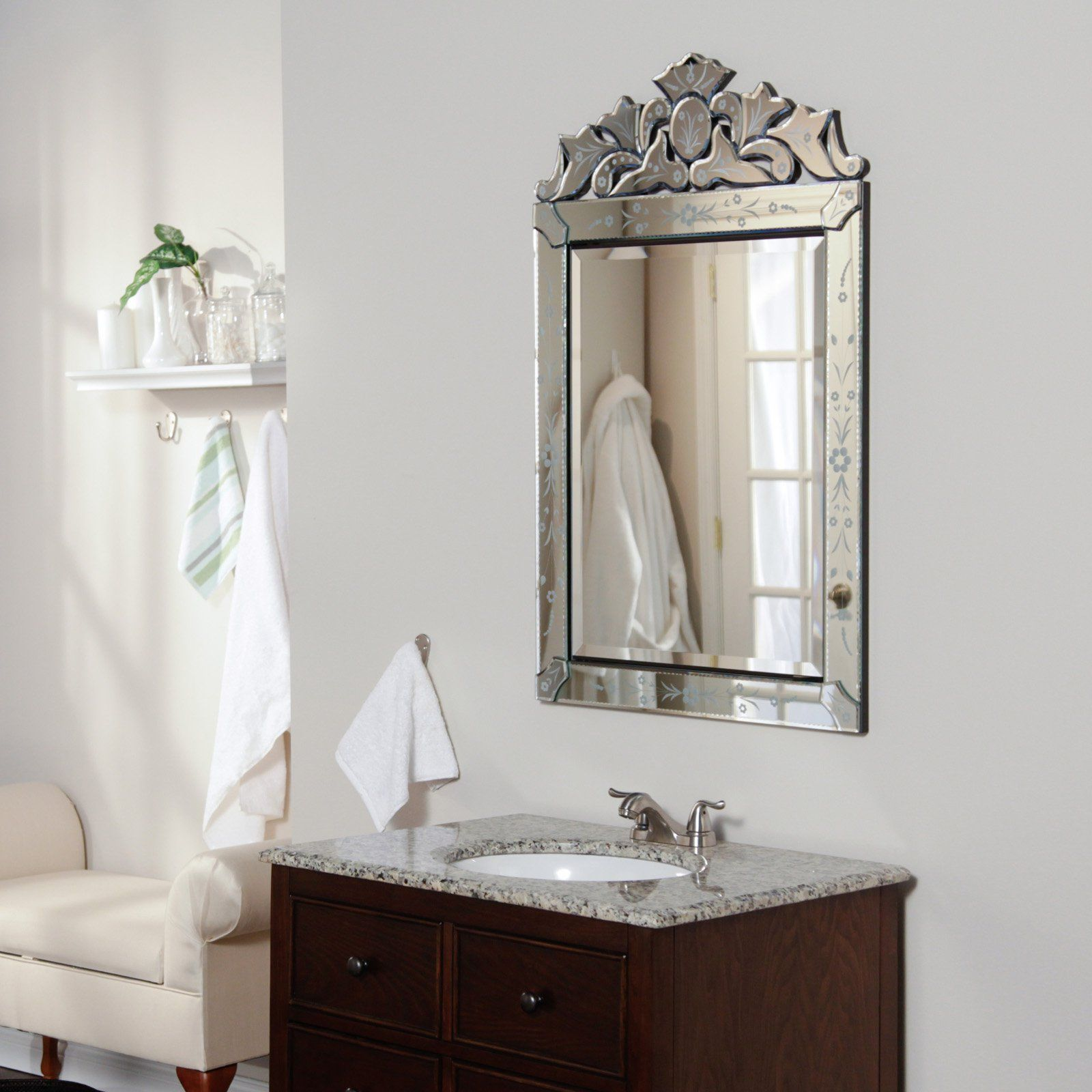 Venetian mirror medicine cabinet - Afina Single Door Radiance ...