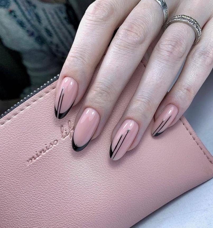 Pretty Pink Almond Short Nails Design Summer Almond Nails Design Short Almond In 2020 With Images Acrylic Nail Shapes Almond Nails Designs Summer Nails Almond