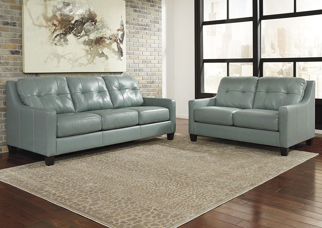 Ou0027Kean Sky Sofa And Loveseat,Signature Design By Ashley