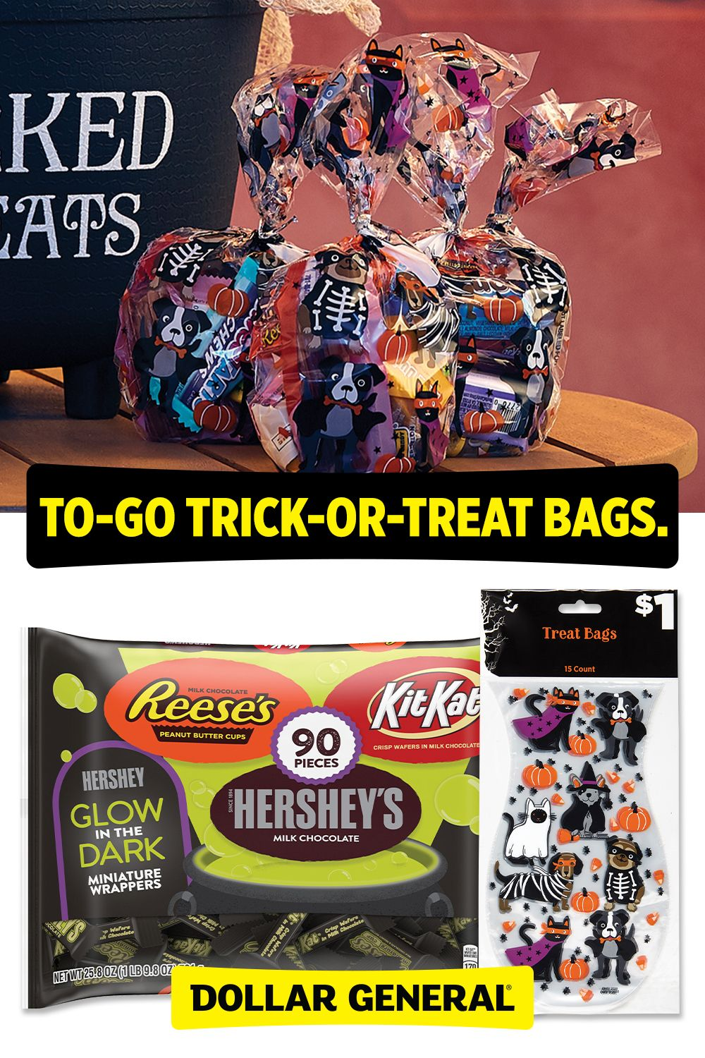 Halloween goodie bags. in 2020 Trick or treat bags