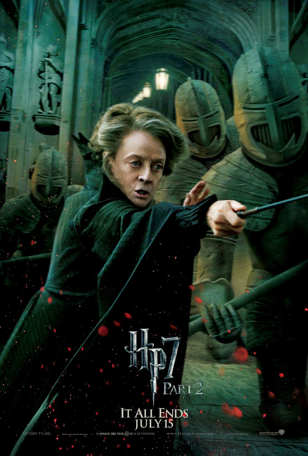 Mcgoonagall Harry Potter Movies Harry Potter Poster Deathly Hallows Part 2
