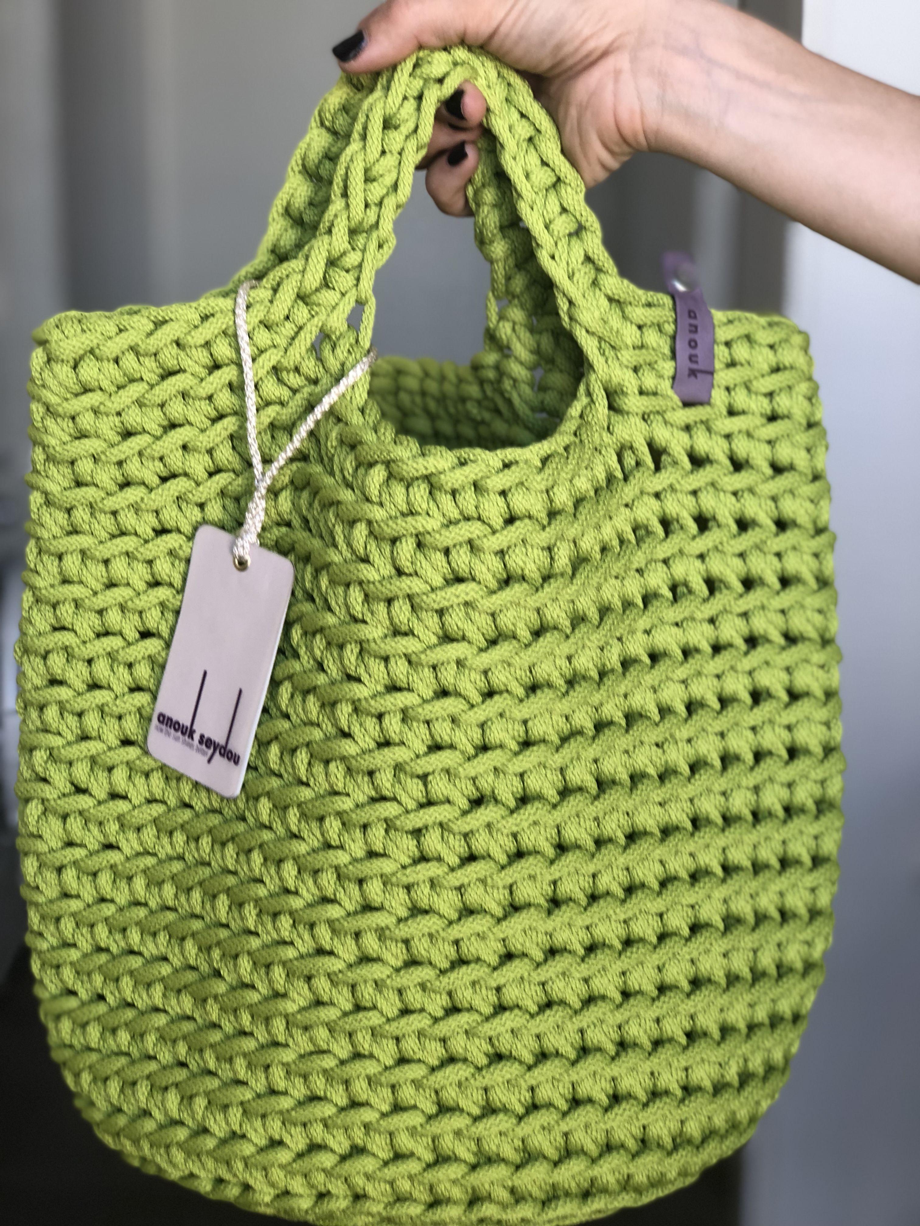 Scandinavian Style Crochet Handbag #crochethandbags