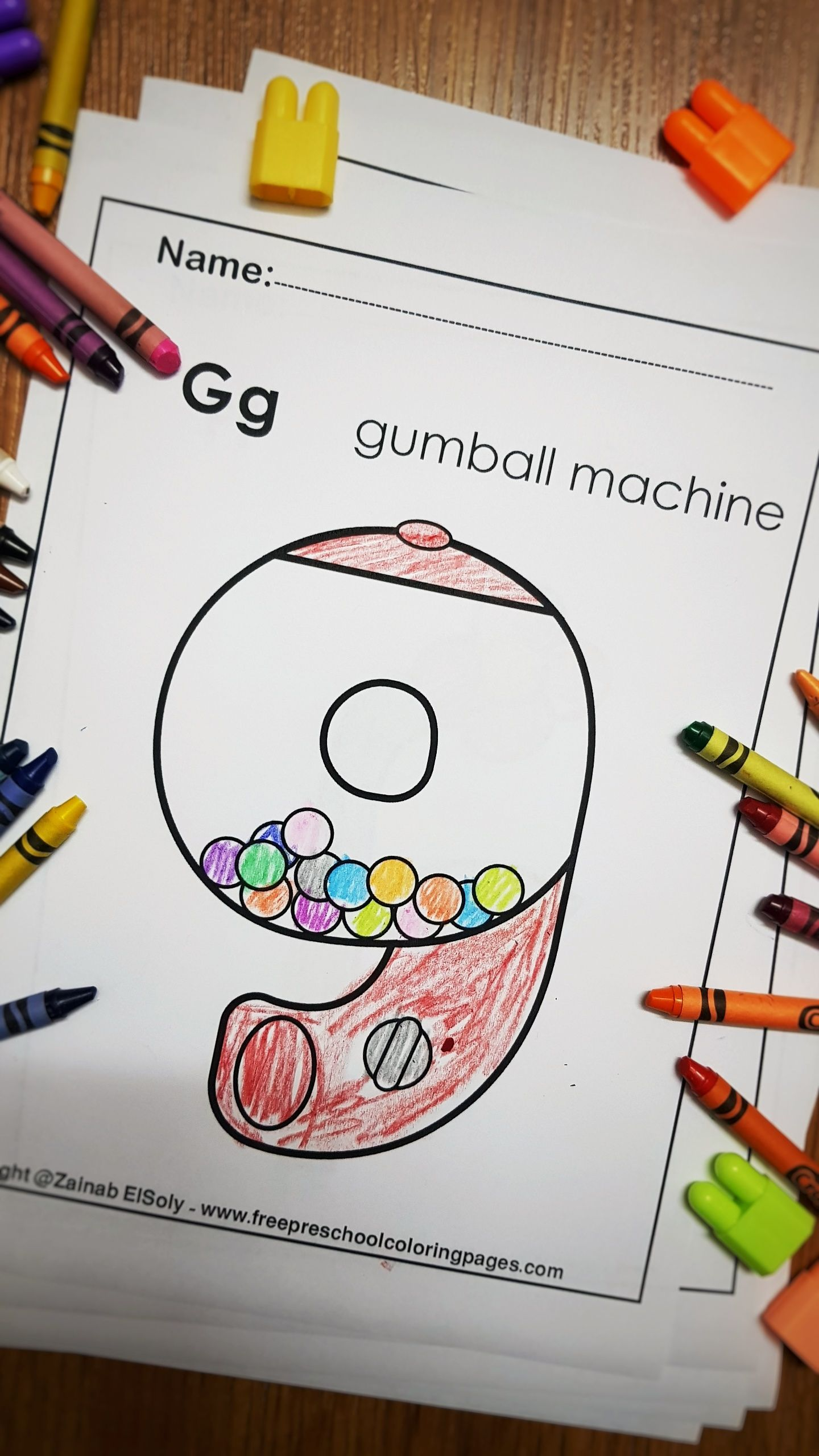 Letter G Gumball Machine Abc Lowercase Letters Alphabet