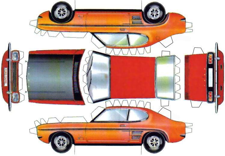 Zum Ausdrucken Und Basteln Auto Basteln Basteln Papiermodell
