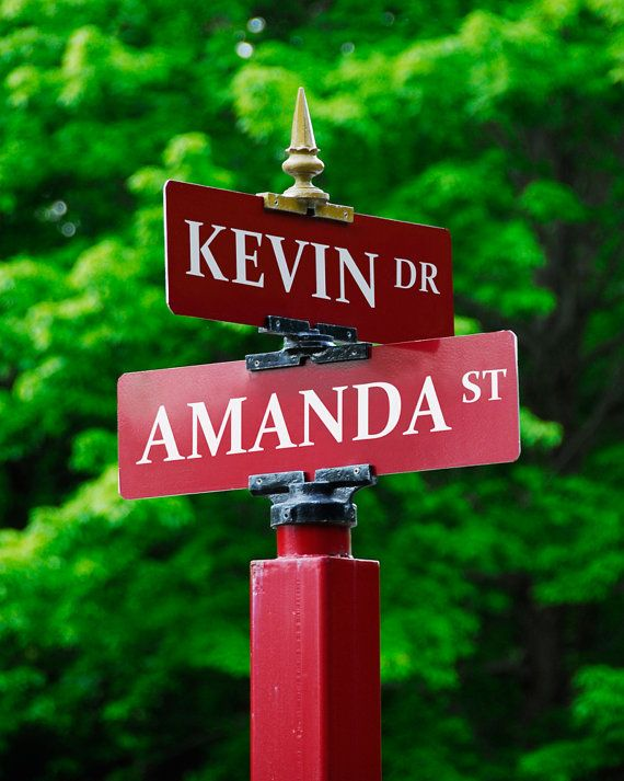 Street Sign Custom Print Personalized Art By PictureItPersonal