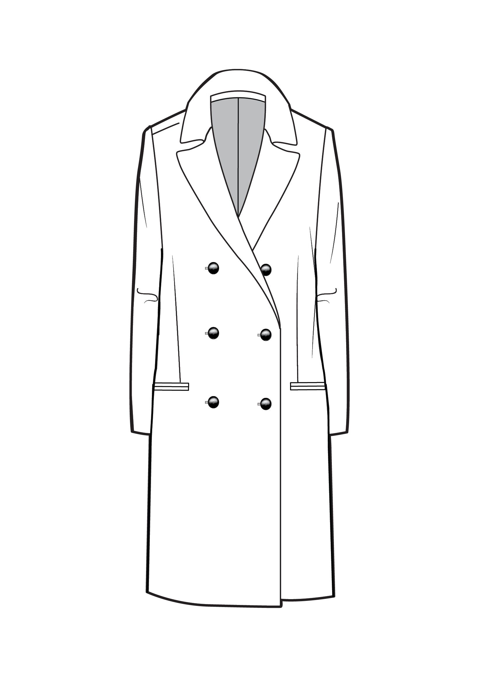 Line Drawing Jacket : Tailored coat technical drawing pinterest