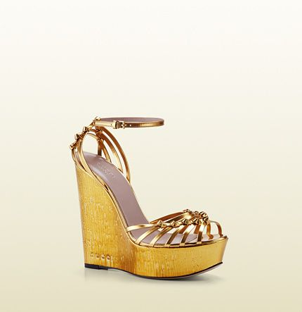 patent leather high-heel wedge sandal