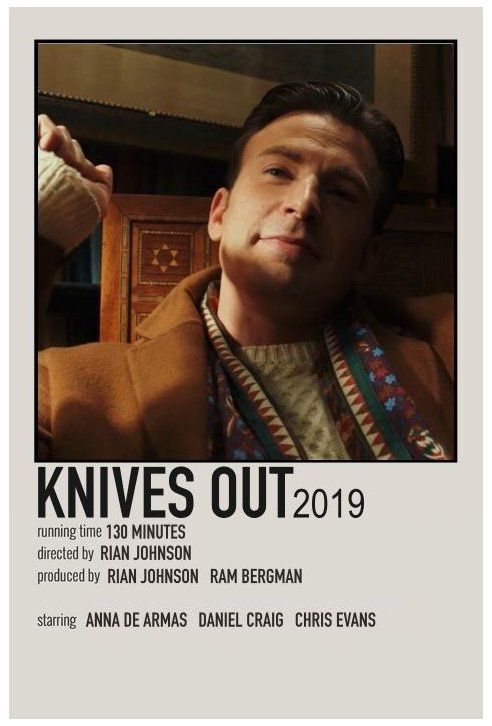 minimal movie posters knives out