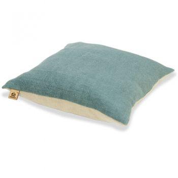 Kissen Quadrat Leinen Farbe petrol, Kissenbezüge und Leinen - wohnzimmer deko petrol