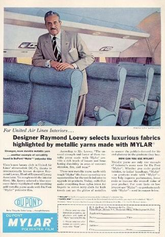 Raymond Loewy - Illustration - 1957 Raymond Loewy - United Airlines