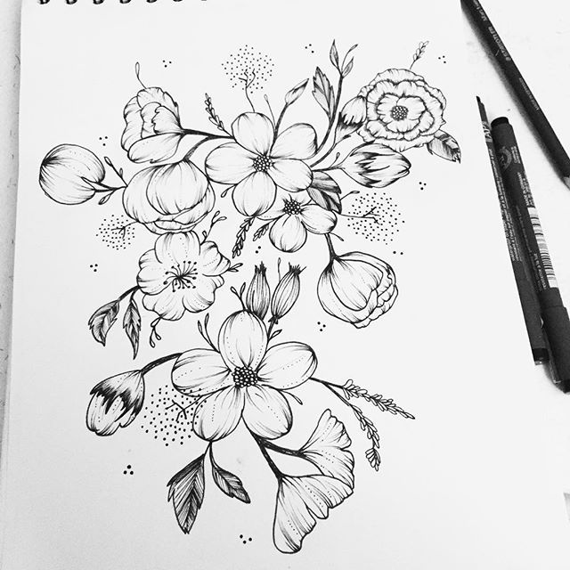 Line Art Aplic Flower Design : Done flowers flower floral sketch illustrator