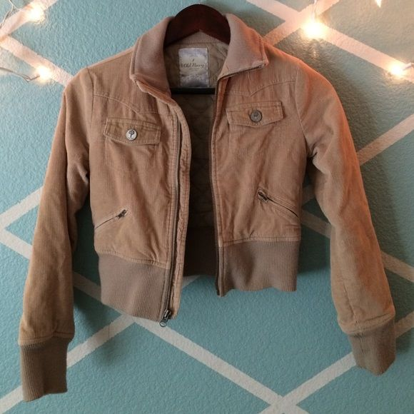 Soft brown jacket This isn't leather and is a soft material. Comfy inside! Pretty thick and will keep you warm. Can't seem to find the size but will fit a Small/Medium. Price negotiable! Old Navy Jackets & Coats