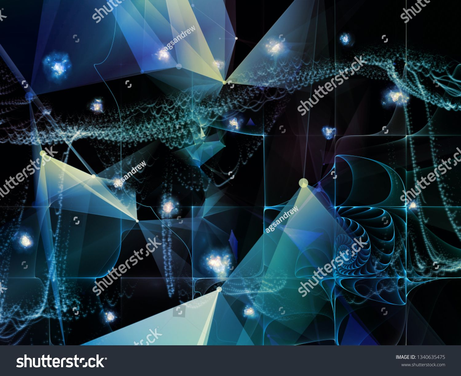 Digital Dreams Series Composition Of Technology Background With