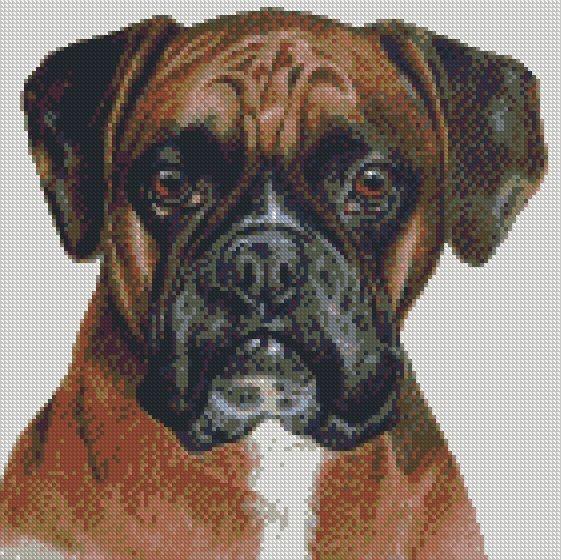 Cross Stitch Chart Kit American Bulldog