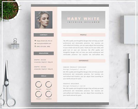 Pink Resume Template Pink Cv Template Creative Resume Template
