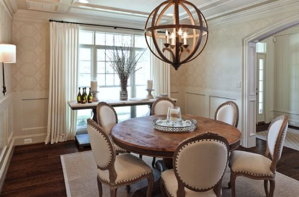 Light Fixtures For Open Concept Dining Rooms Neutral Dining Room