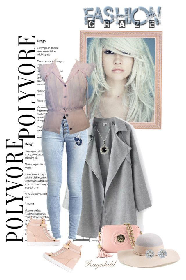 """Pink Blouse & Blue Denim Jeans"" by ragnh-mjos ❤ liked on Polyvore featuring Object Collectors Item,Fereti, Nordstrom, Giuseppe Zanotti and Chanel"