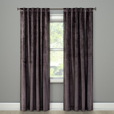 95 X54 Curtain Panel Velvet Gray Project 62 In 2020 Panel Curtains Velvet Curtains Curtains