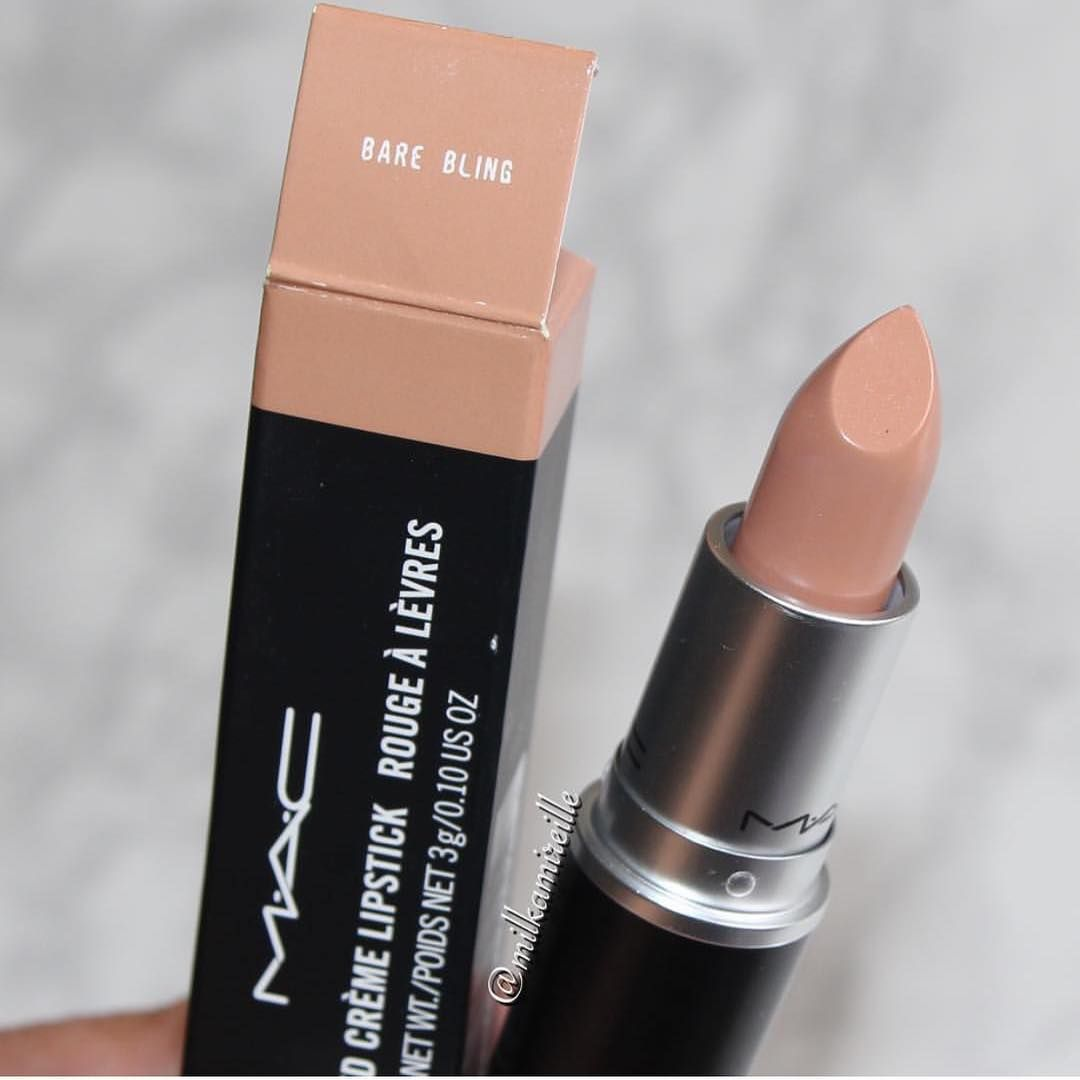 These 32 Gorgeous Mac Lipsticks Are Awesome - Bare Bling ,The perfect Nude Lipstick #lipstick #mac #nudelip #maclipstick