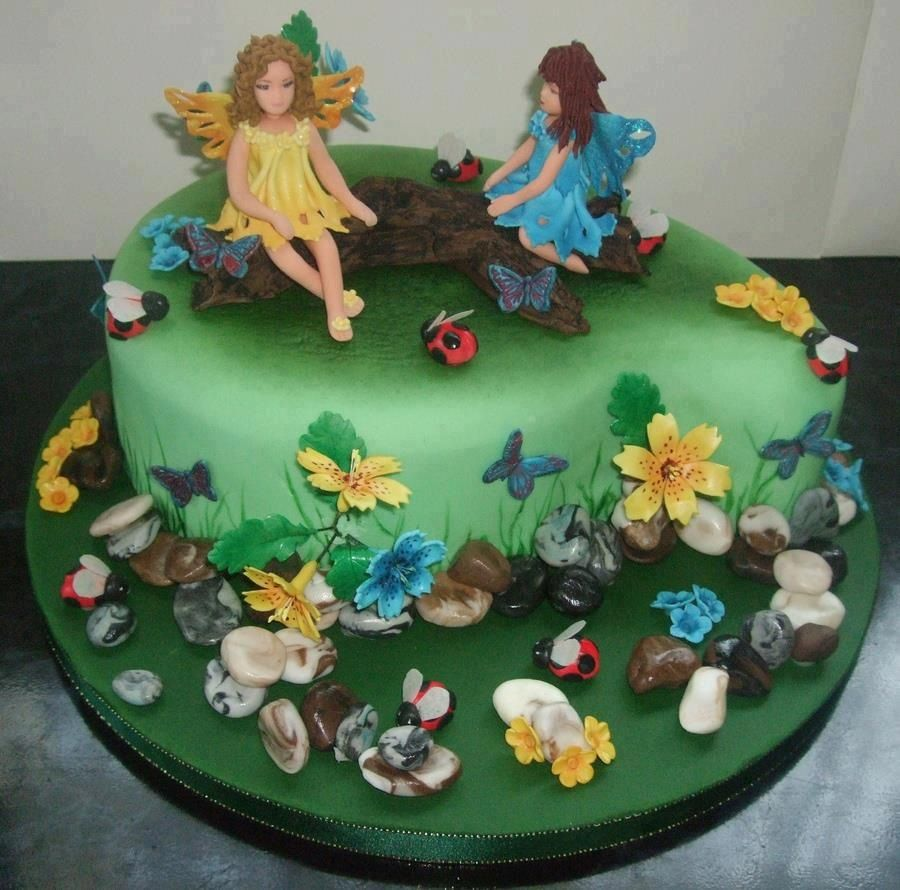 Fairy cake fairy and butterfly theme cakes pinterest for Fairy cakes