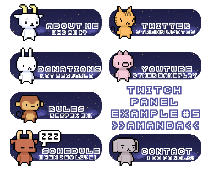 Image result for twitch panels | kickasslaura TWITCH in 2019