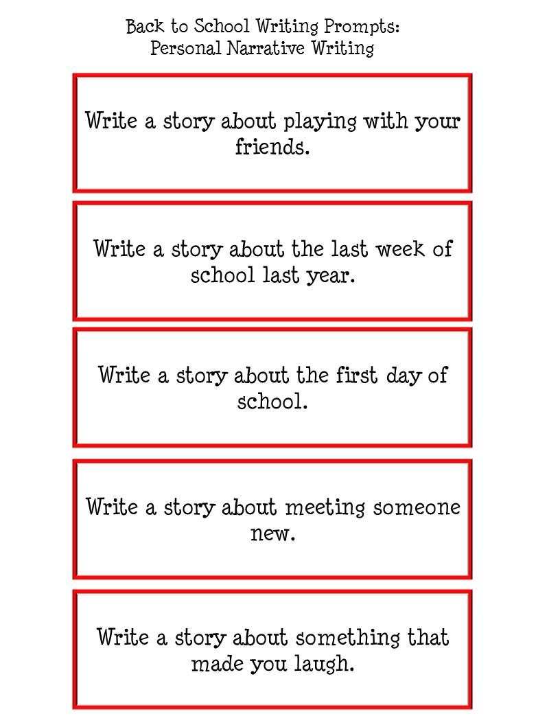 writing prompts for elementary school: made it monday: back to