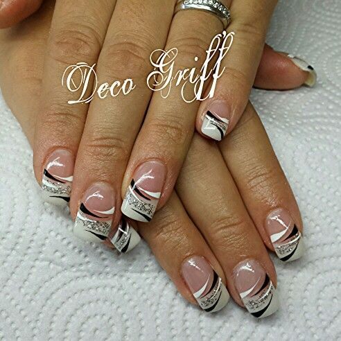 ongle gel french chic nails nails nail designs nail art. Black Bedroom Furniture Sets. Home Design Ideas