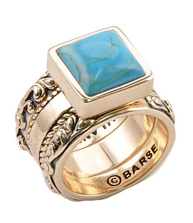 Bronze and Turqoise Ring.   Love this and I WILL have this!
