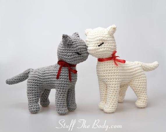 Cat Amigurumi Pattern, seamless crocheted kitten instructions, baby ...