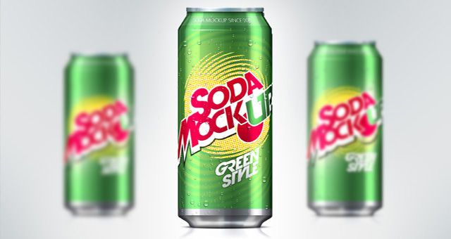 psd soda can mock up template pinterest モックアップ