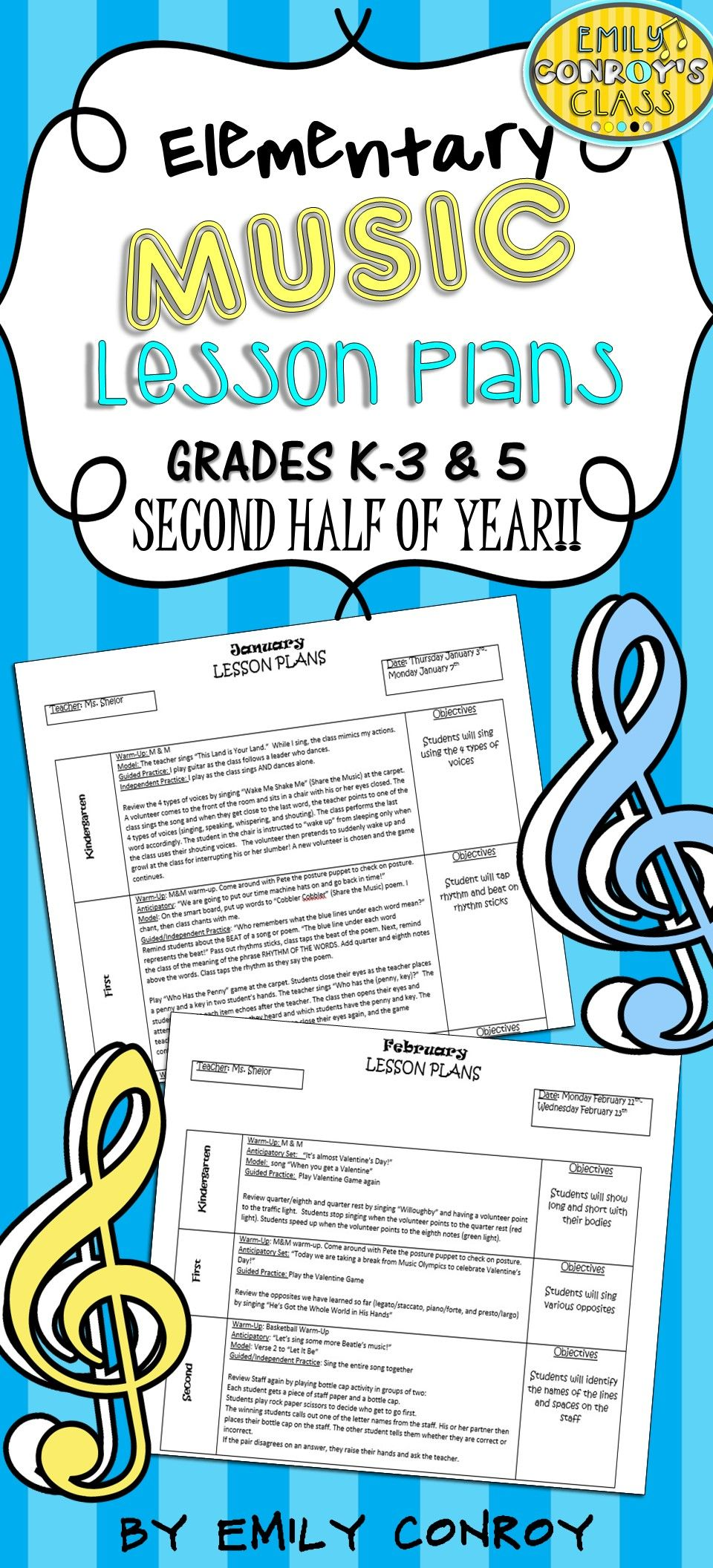 Elementary Music Lessons Plans-These plans are creative ...