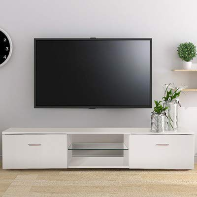 Amazon Com Tusy Tv Stand For 65 Inch Television Stands White