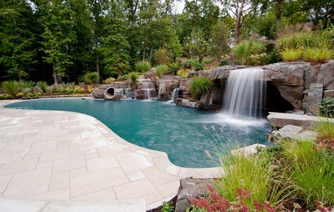 natürliche Form Steine Garten Gestaltung Villa | Pool and Garten ...