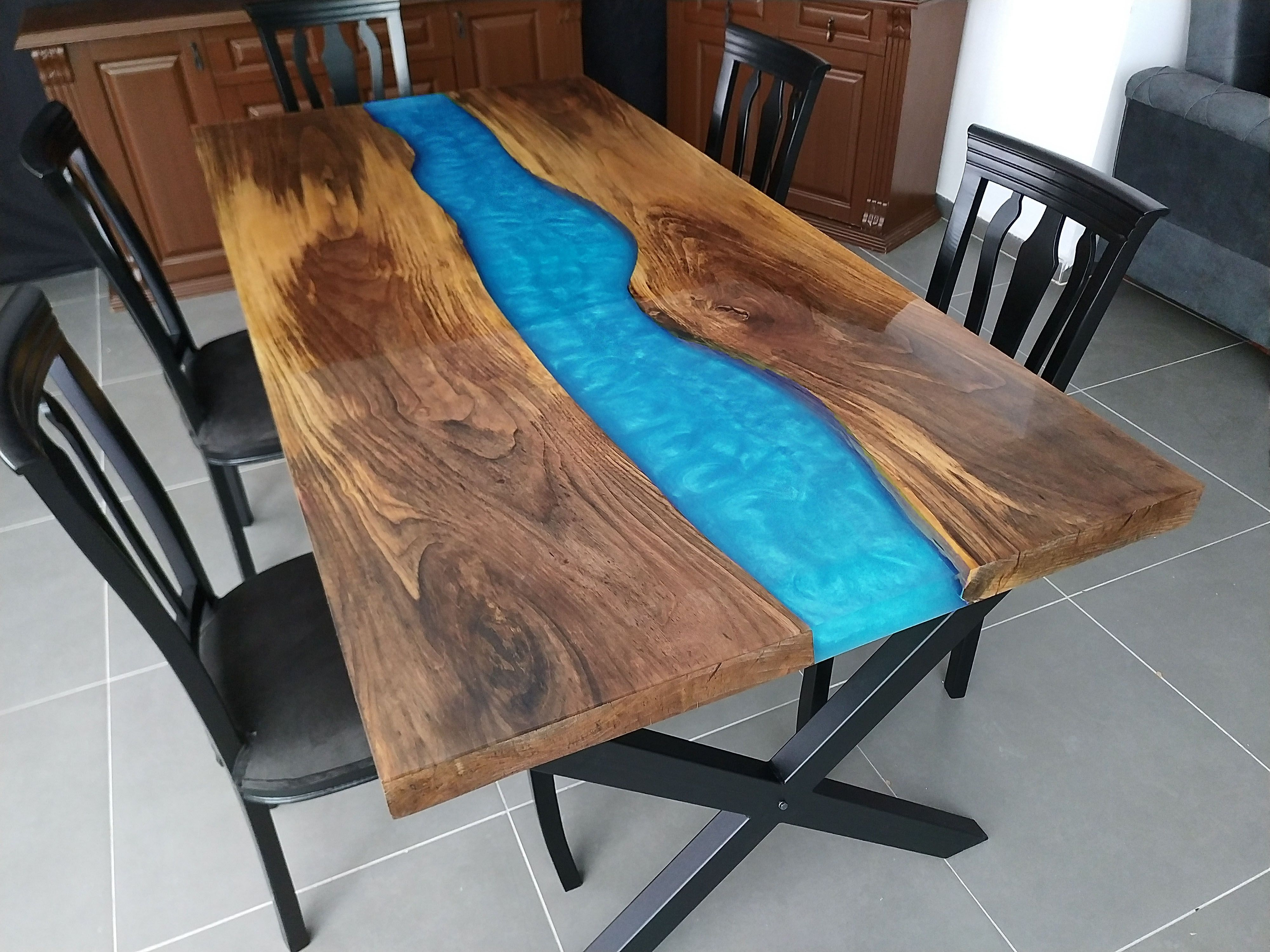 Epoxy table.  Magnificent epoxy resin table production and step by step production pictures and videos  #epoxytable #epoxyresintable #epoxyrivertable #epoxyrivertable #rivertable  #liveedge