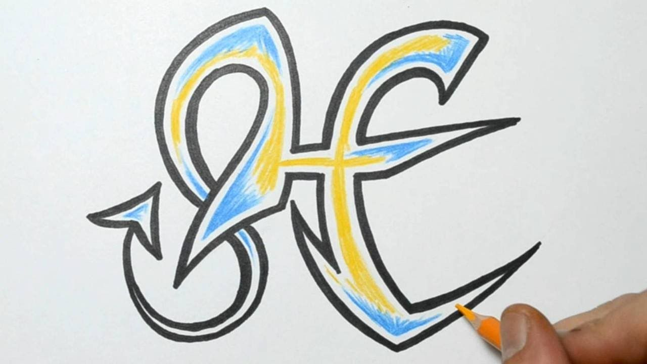 H Letter In Style How to Draw Graffiti -...