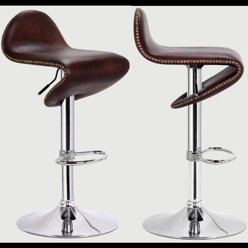 351 00 Buy Here Http Appdeal Ru D4vn 2xpcs European And America Style Leather Metallized Fashion Kitchen Bar Stool Furnitur Tabouret De Bar Tabouret Bar