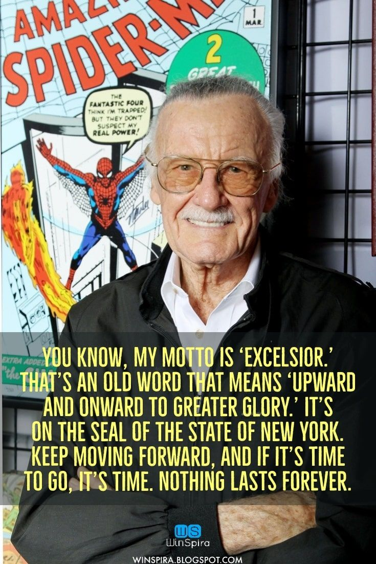 Stan Lee S Most Famous Quotes R I P Winspira Stanleequotes Stanleequotesmarvel Stanleequoteswor Stan Lee Quotes Positive Quotes Best Motivational Quotes