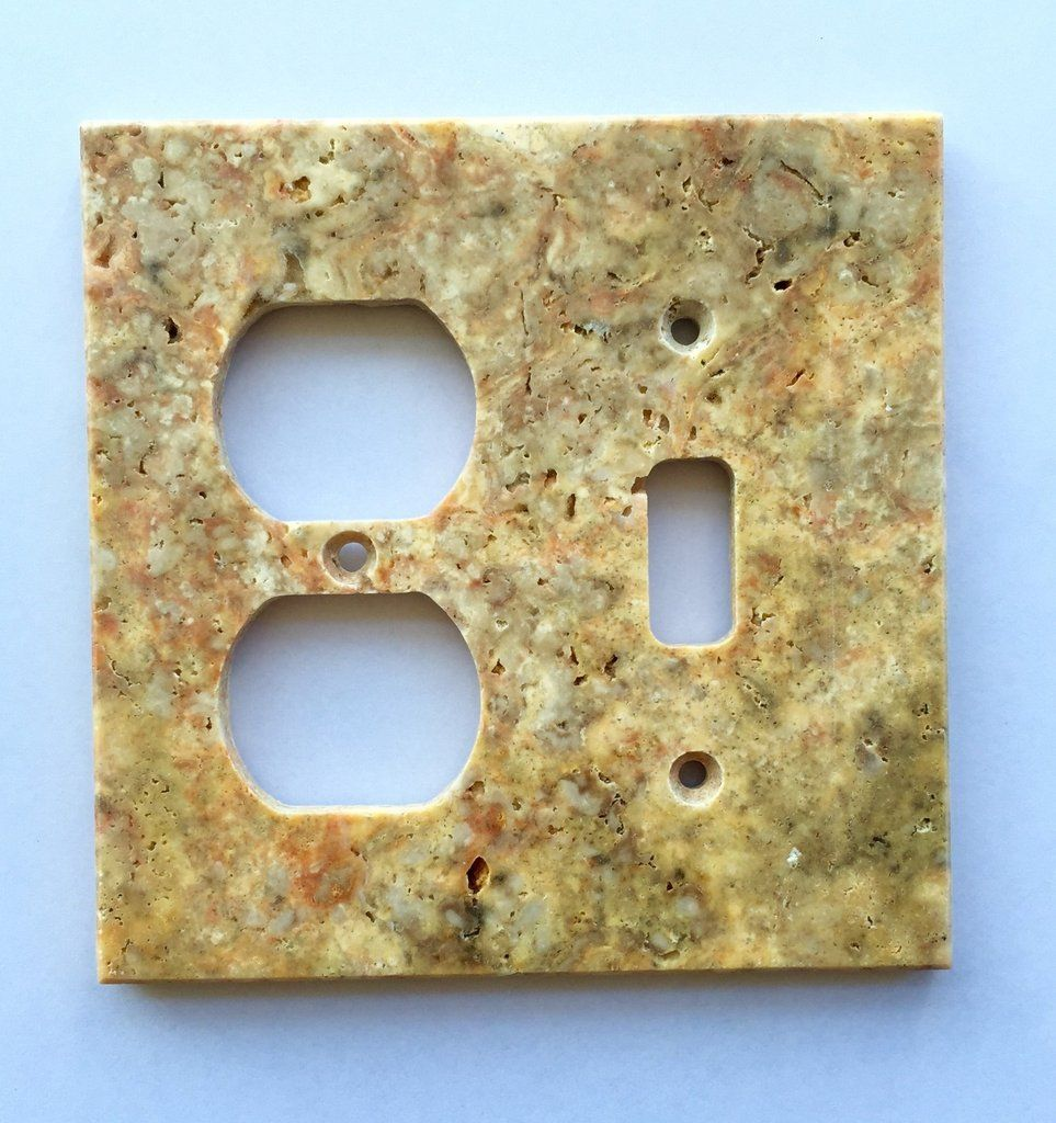 Scabos Travertine Toggle Duplex Switch Wall Plate / Switch Plate ...