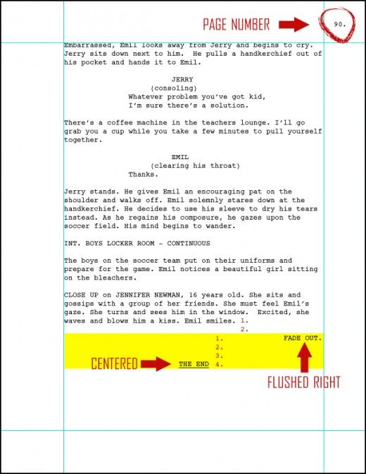 Format a New Screenplay or Spec Script (updated for 2014) Booklet - movie storyboard free sample example format download