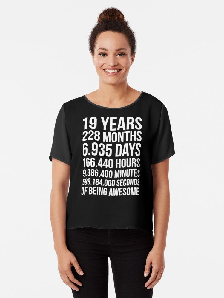 'Awesome 19th Birthday Shirt Funny 19 Year Old Birthday