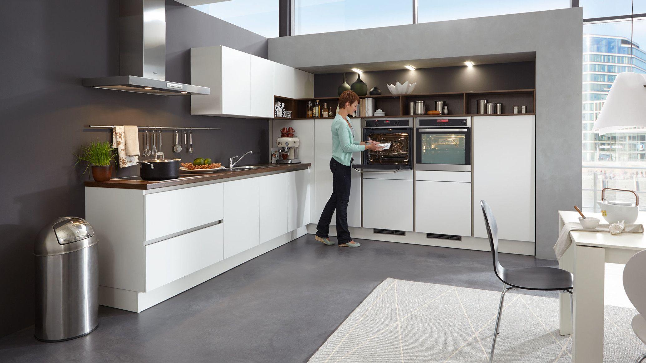 Küche Weiss Grifflos Matt | Küche Grifflos Weiß Hochglanz Küchenhaus ...