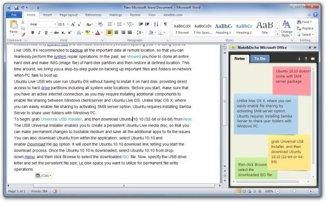 note do take notes and maintain to do lists in microsoft office