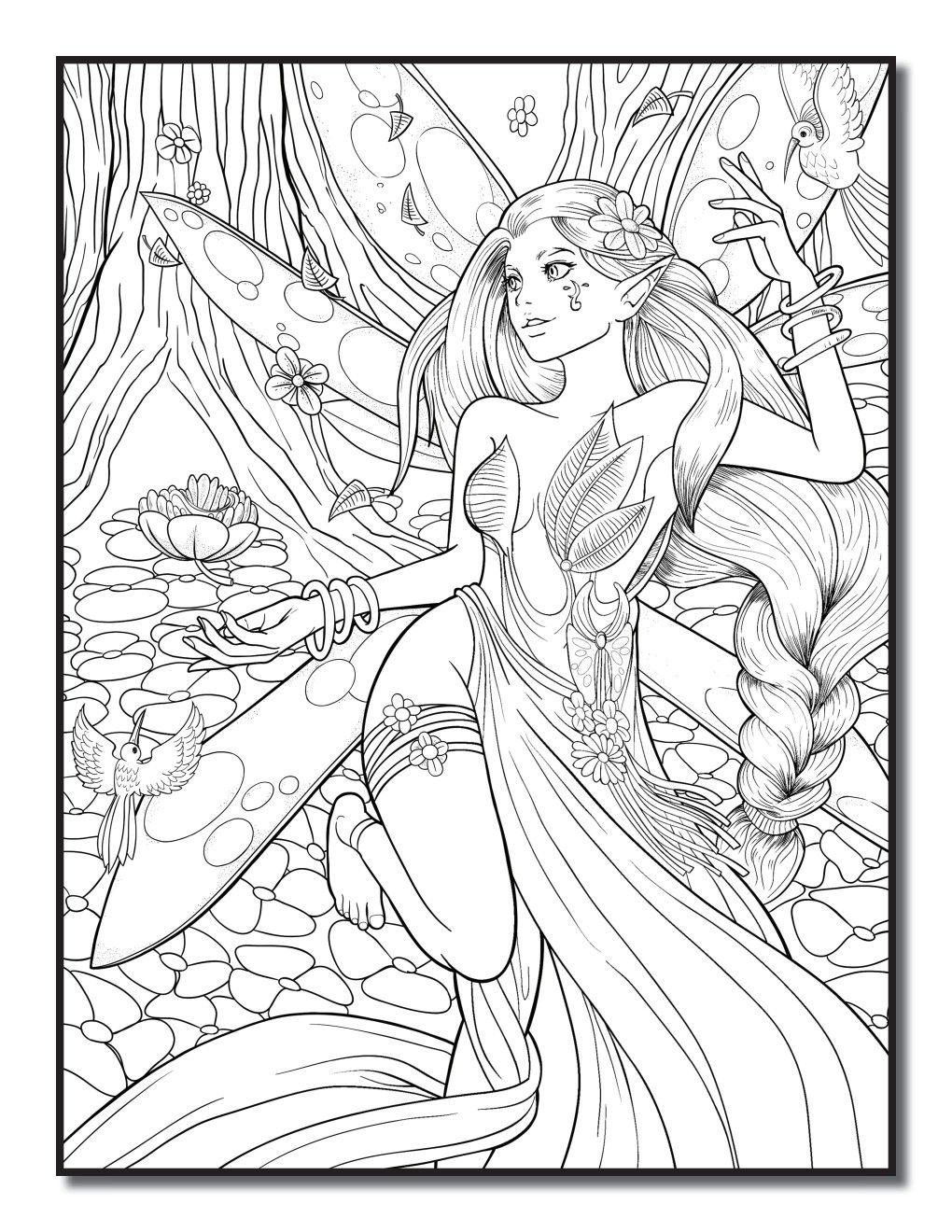 Pin By Monika Nowicka On Ulubione Ilustracje Z Kolorowanwk In 2020 Fairy Coloring Book Fairy Coloring Cute Coloring Pages